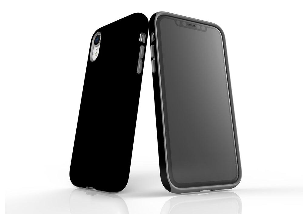 Black iPhone XR Tough Case, Back Protective Cover