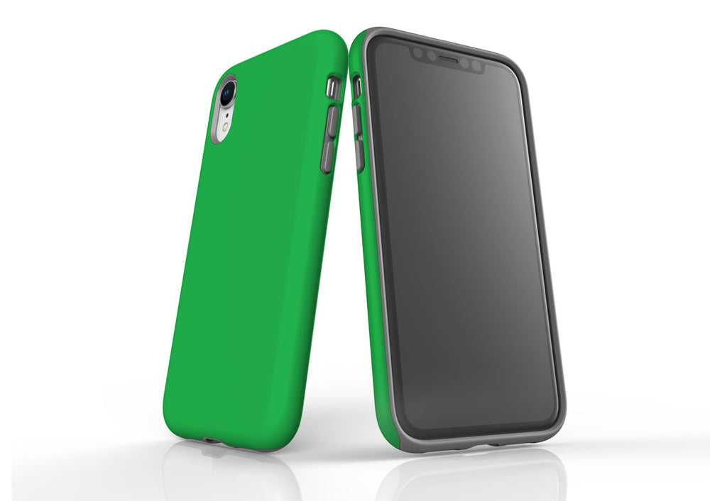 Green iPhone XR Tough Case, Protective Back Cover