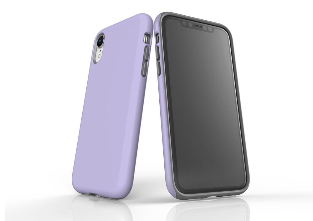 Lavender iPhone XR Tough Case, Protective Back Cover