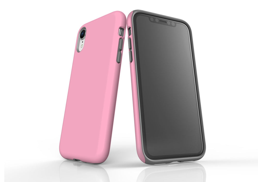 Pink iPhone XR Tough Case, Protective Back Cover