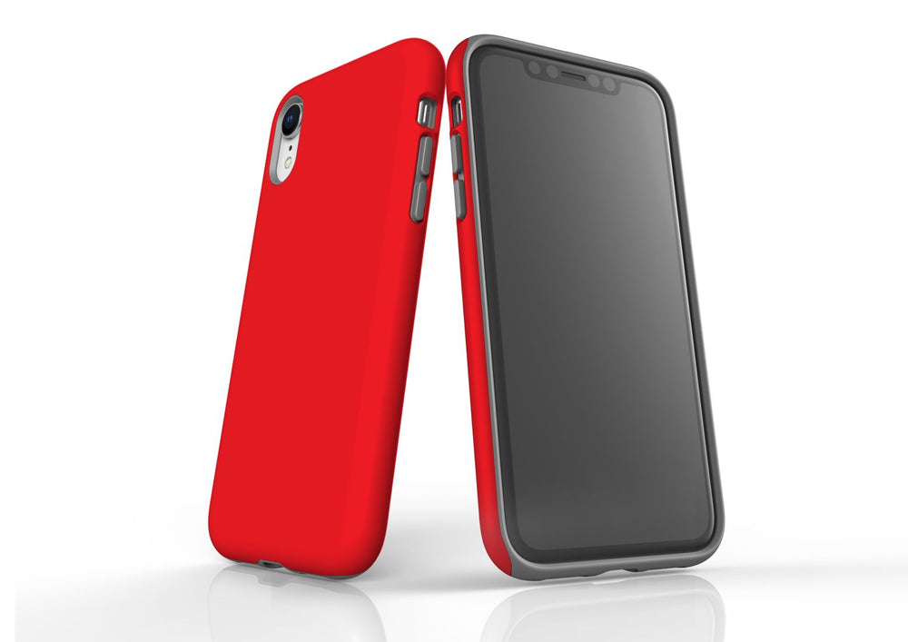 Red iPhone XR Tough Case, Protective Back Cover