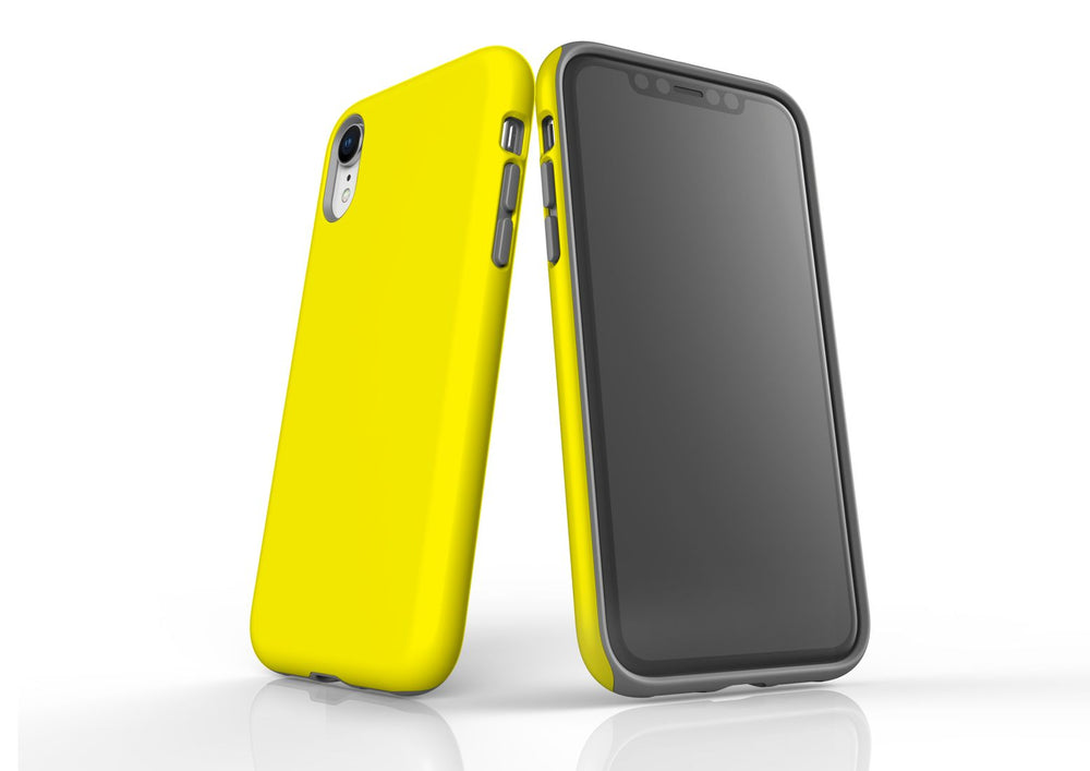 Yellow iPhone XR Tough Case, Protective Back Cover