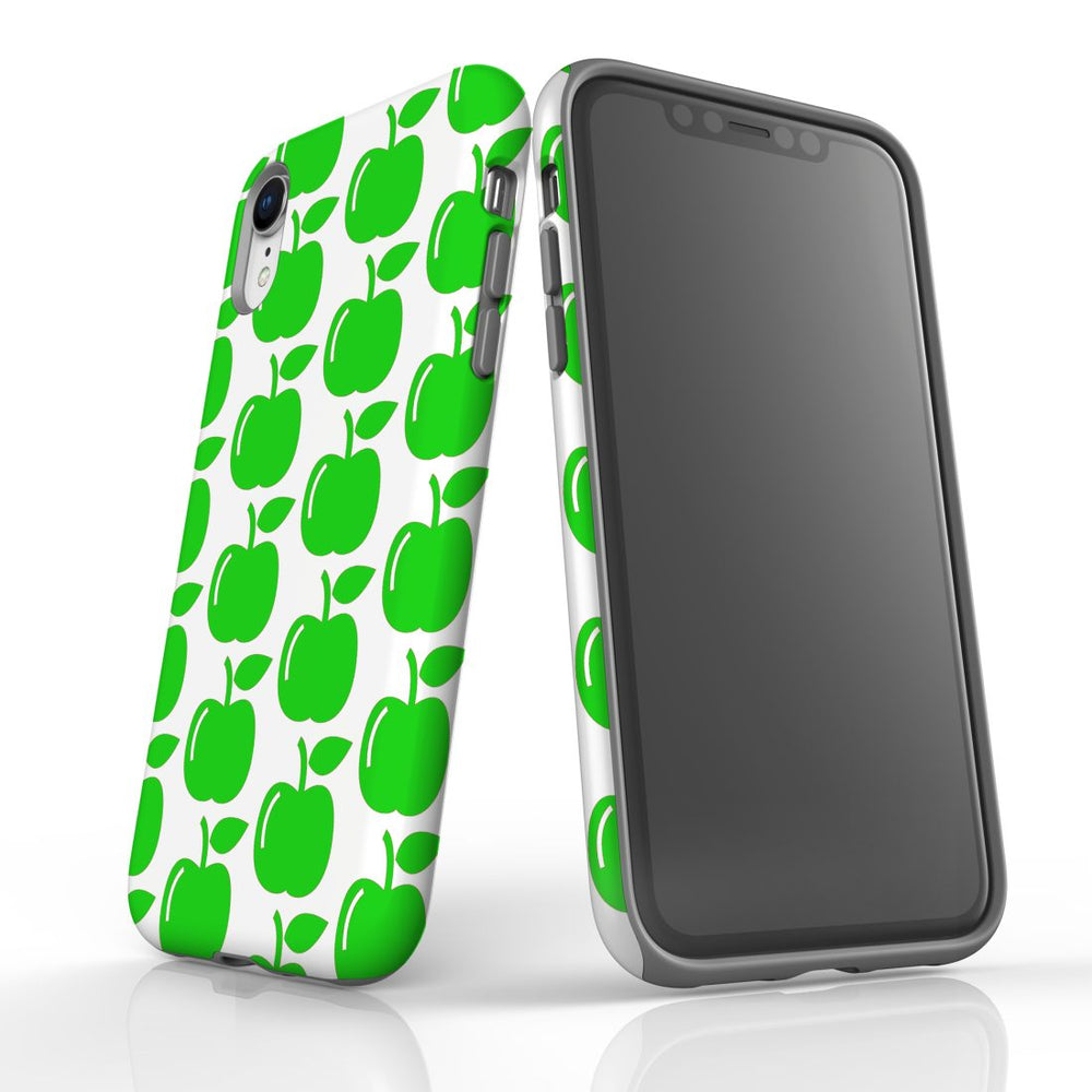 For iPhone XR Protective Case, Apple Pattern