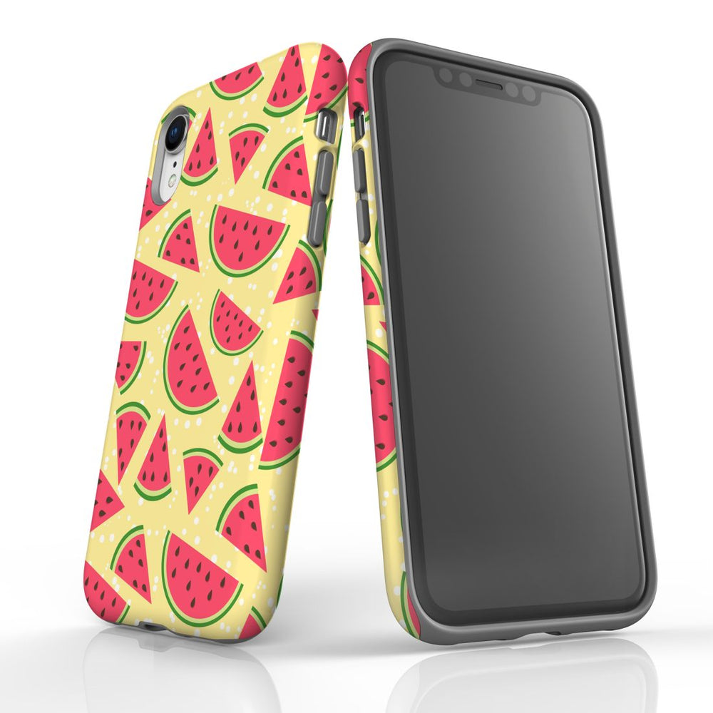 For iPhone XR Protective Case, Watermelon Pattern