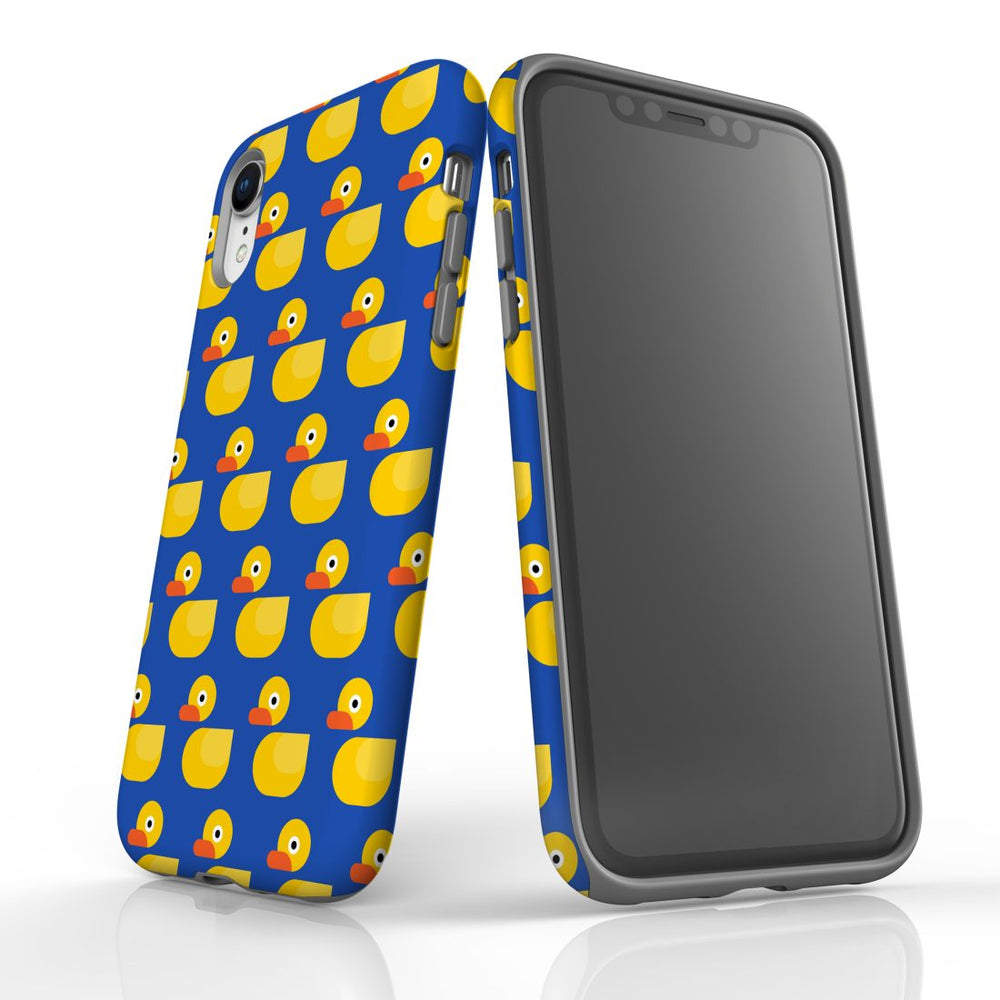 For iPhone XR Protective Case, Yellow Duckies Pattern