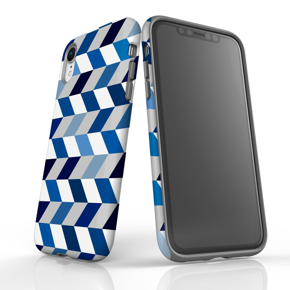 For iPhone XR Protective Case, Zigzag Chevron Pattern