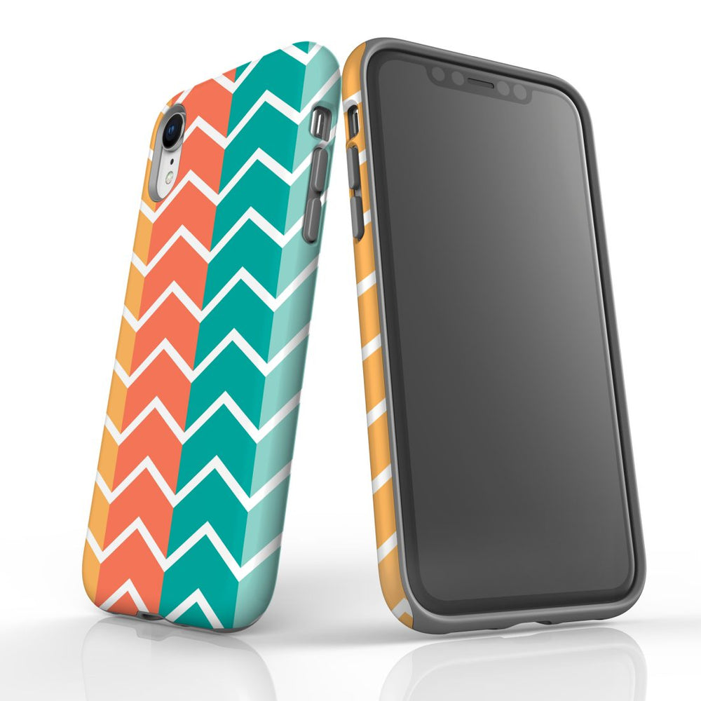 For iPhone XR Protective Case, Zigzag Colorful Pattern