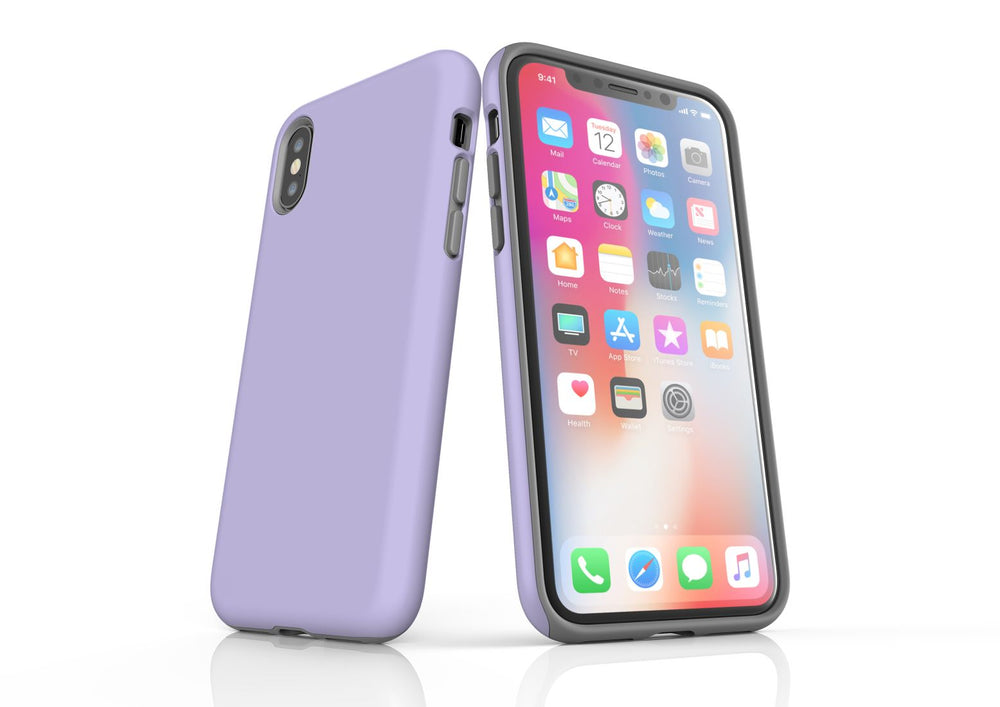Lavender iPhone XS Tough Case, Protective Back Cover