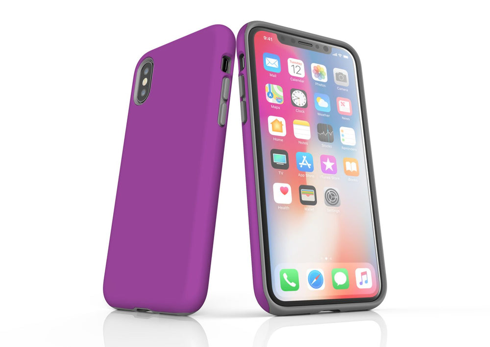 Purple iPhone XS Tough Case, Protective Back Cover