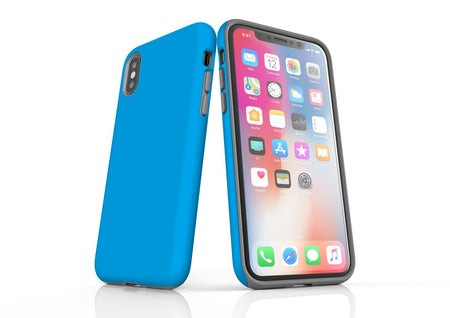 Turquoise iPhone XS Tough Case, Protective Back Cover