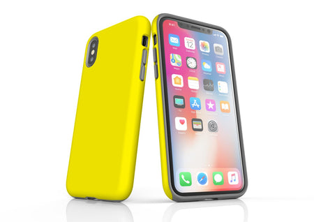 Yellow iPhone XS Tough Case, Protective Back Cover