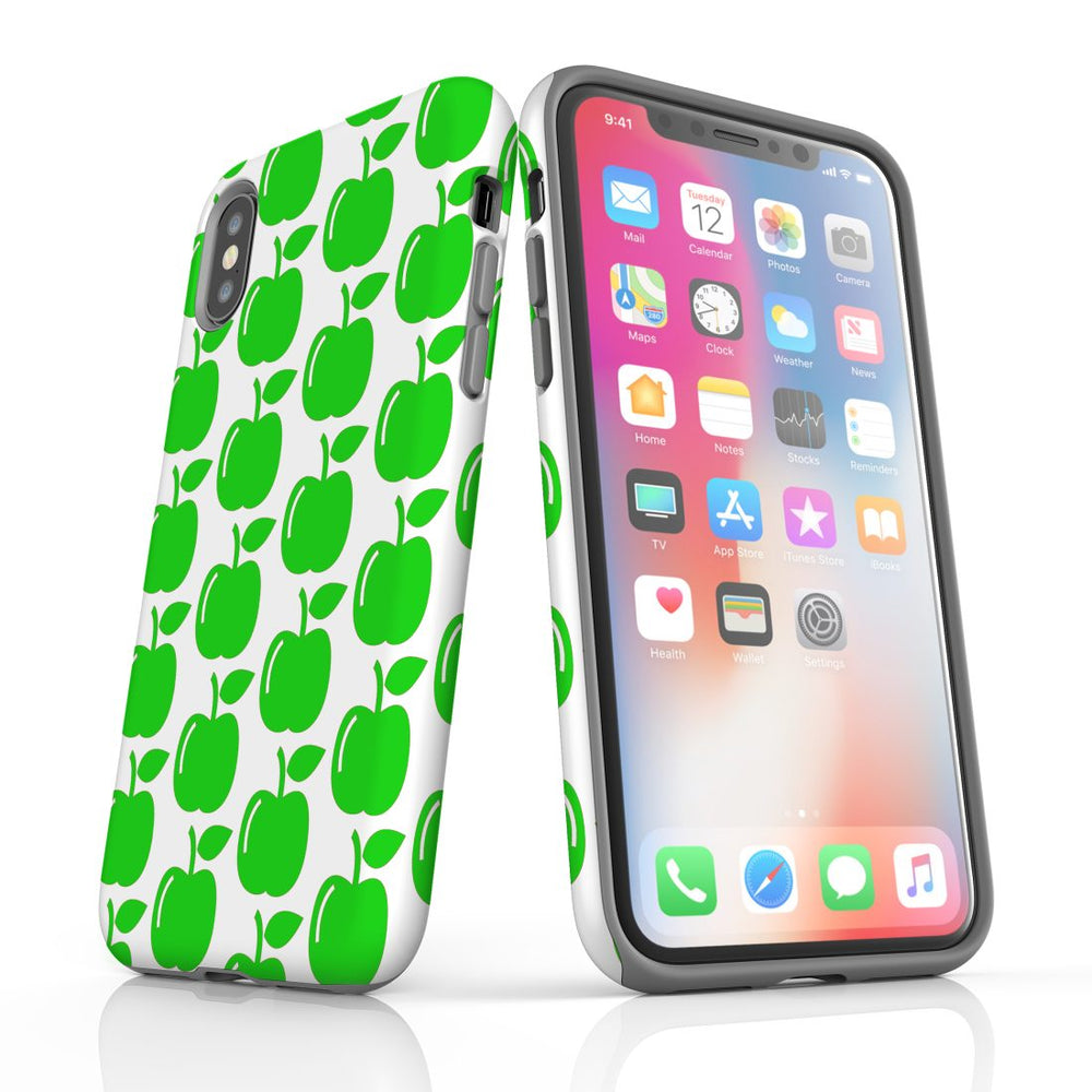 For iPhone XS/X Protective Case, Apple Pattern