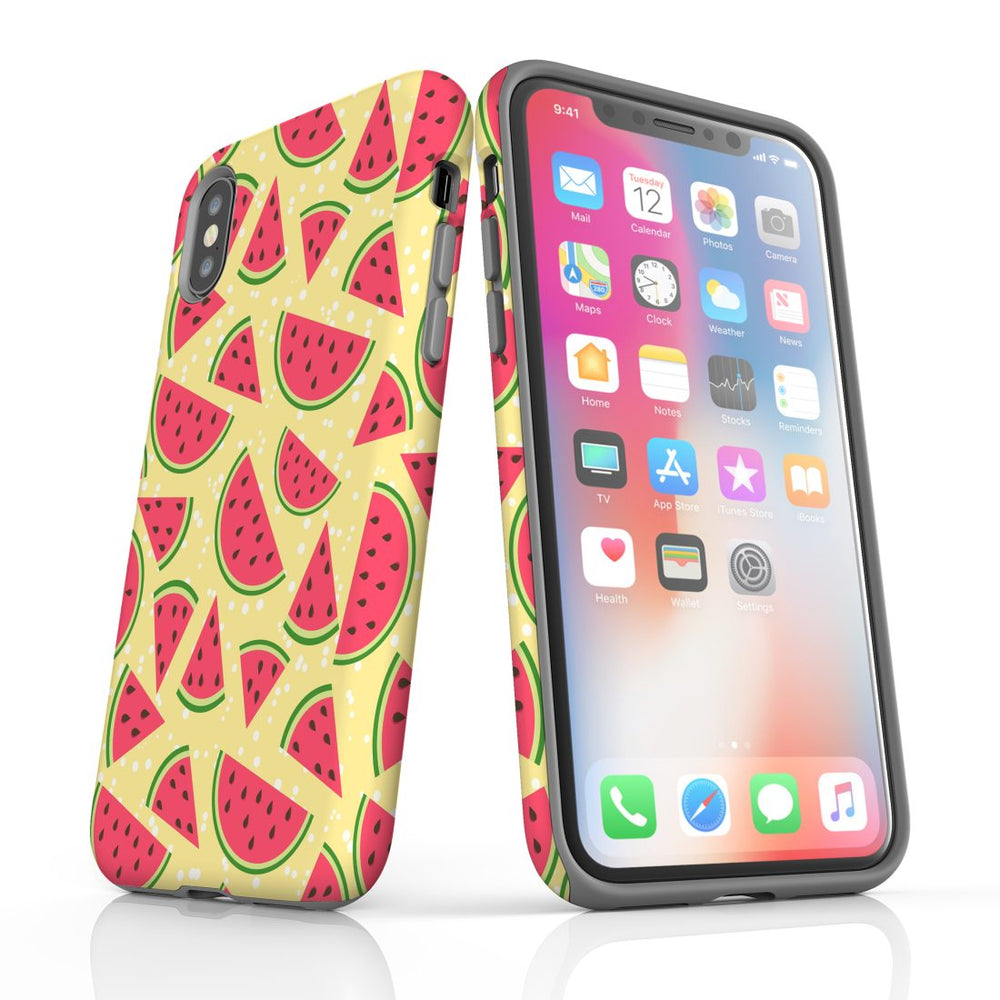For iPhone XS/X Protective Case, Watermelon Pattern