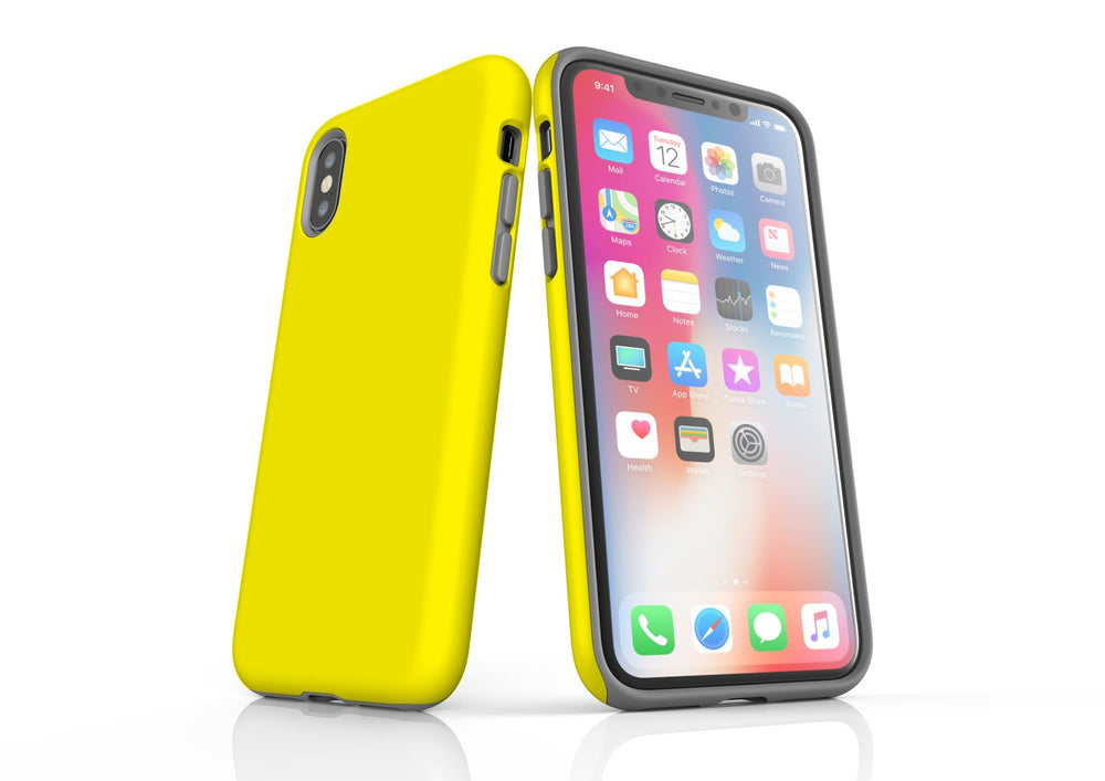 Yellow iPhone XS Max Tough Case, Protective Back Cover