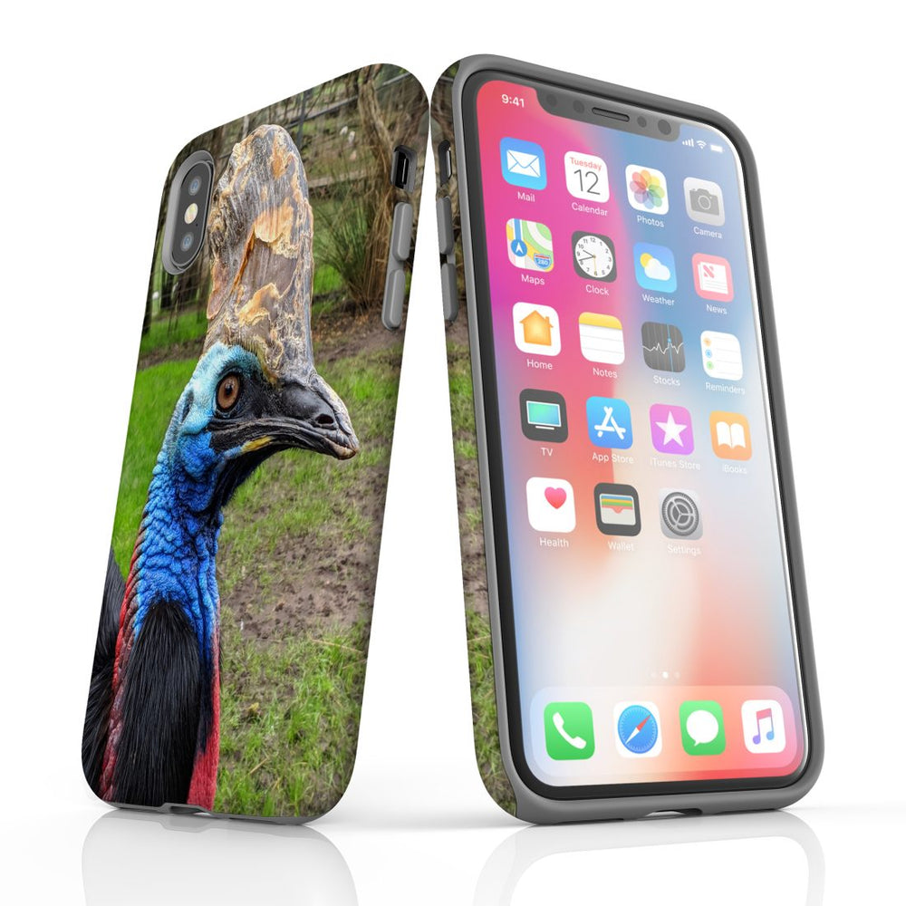 iPhone XS Max Case Armoured Tough Cover,Cassowary