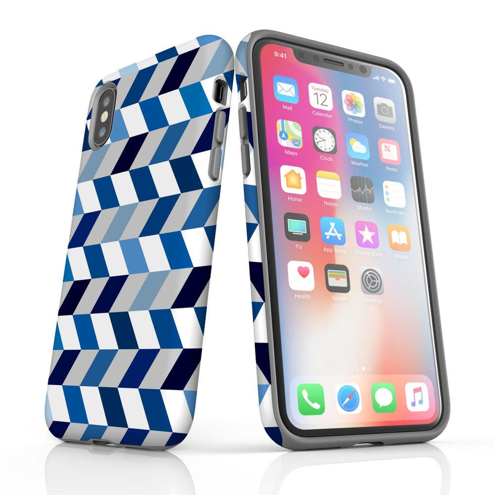 For iPhone XS Max Protective Case, Zigzag Chevron Pattern