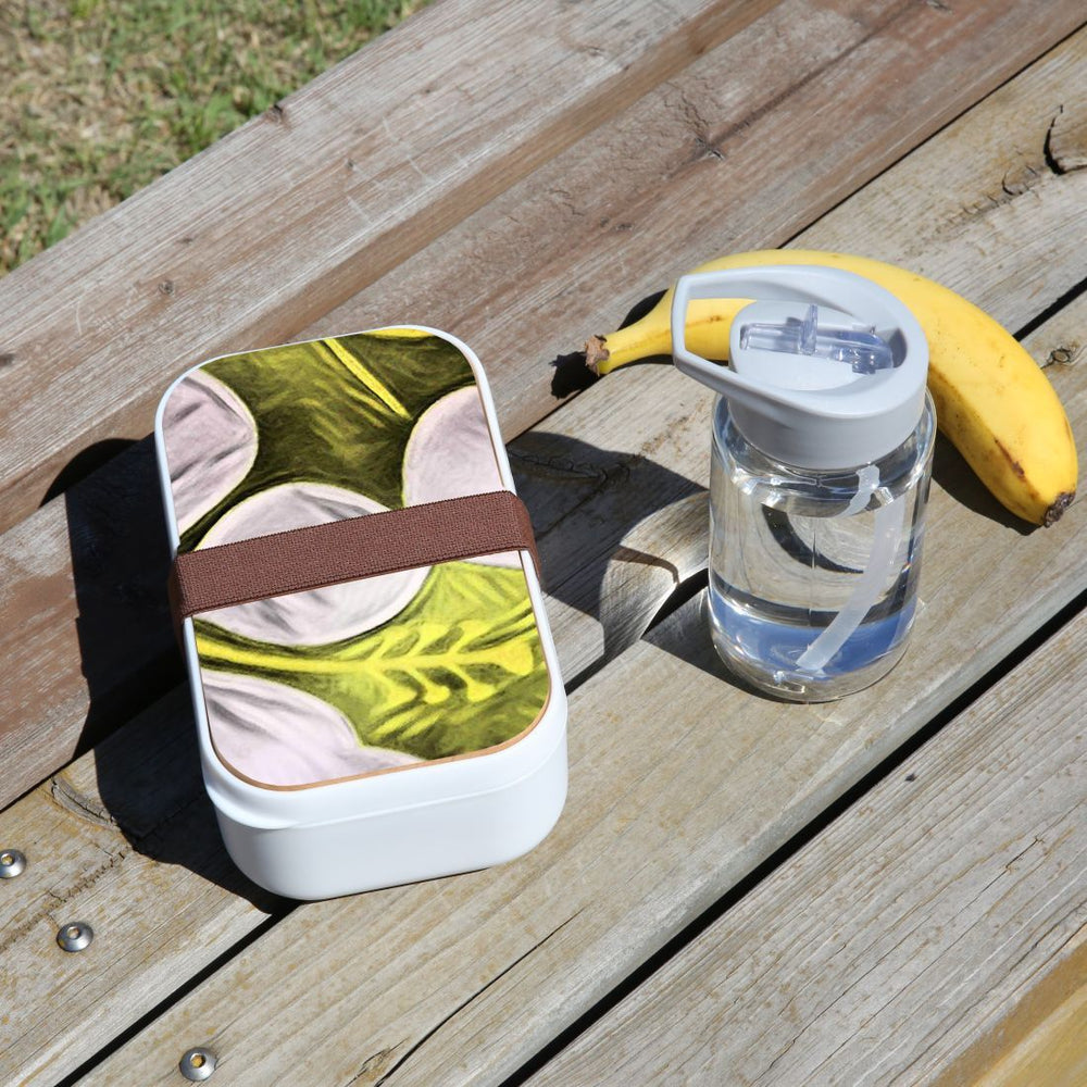 Lunch Box Food Container Snack Picnic Authentic Wood Strap Cutlery Charming