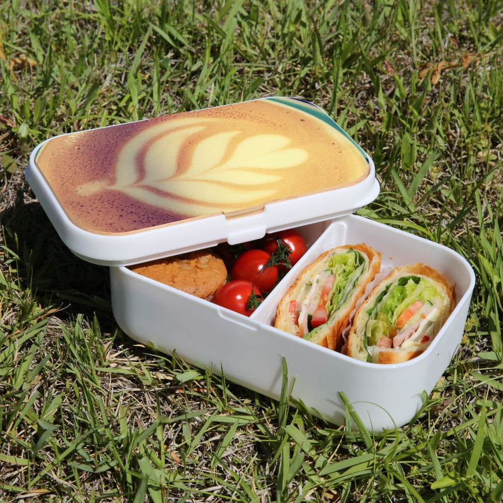 Lunch Box Food Container Snack Picnic Authentic Wood Strap Cutlery Relax