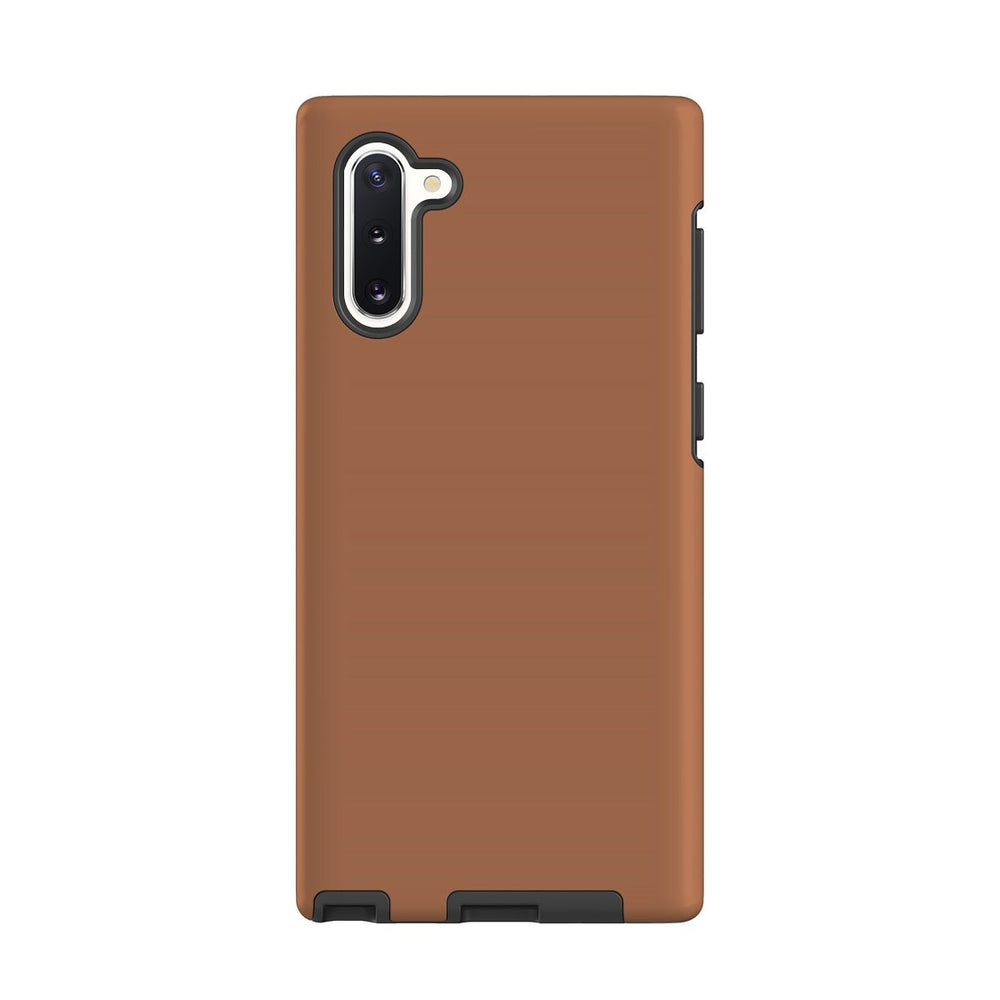 Samsung Galaxy Note 10 Case, Armour Tough Protective Cover, Brown