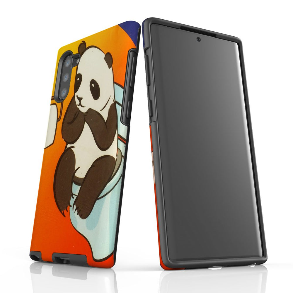Samsung Galaxy Note 10 Case Protective Tough Cover, Panda's Toilet