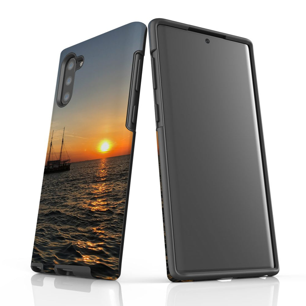 Samsung Galaxy Note 10 Case Protective Tough Cover, Sailing Sunset