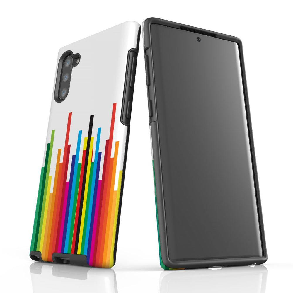 For Samsung Galaxy Note 10 Protective Case, Rainbow Bar Pattern