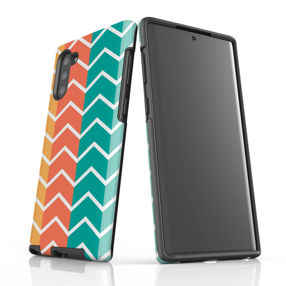 For Samsung Galaxy Note 10 Protective Case, Zigzag Colorful Pattern