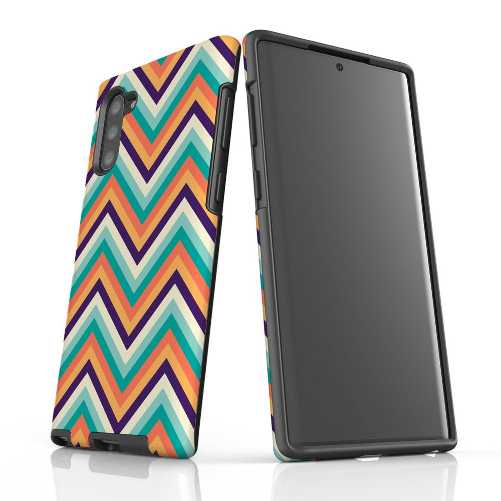 For Samsung Galaxy Note 10 Protective Case, Zigzag Rainbow Pattern