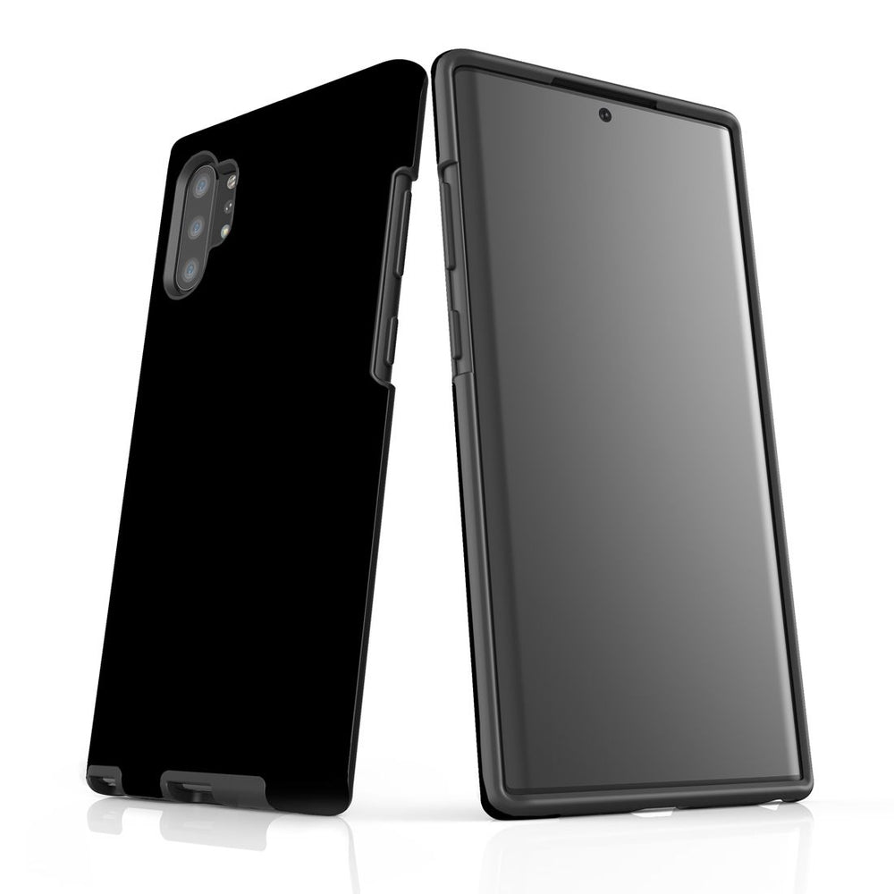 Solid Black - Samsung Galaxy Note 10+ Plus Tough Case In Matte