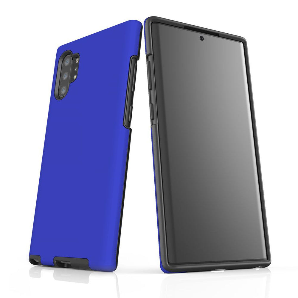 Solid Blue - Samsung Galaxy Note 10+ Plus Tough Case In Matte