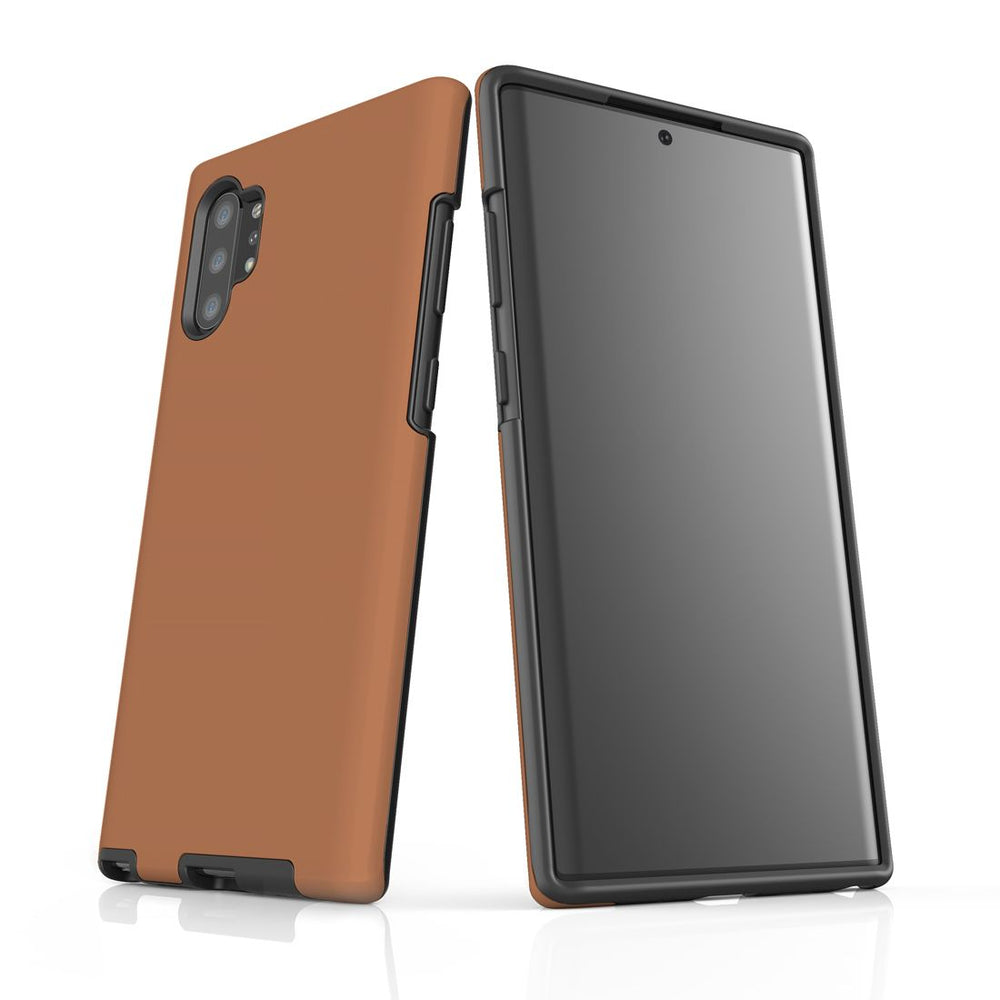 Solid Brown - Samsung Galaxy Note 10+ Plus Tough Case In Matte