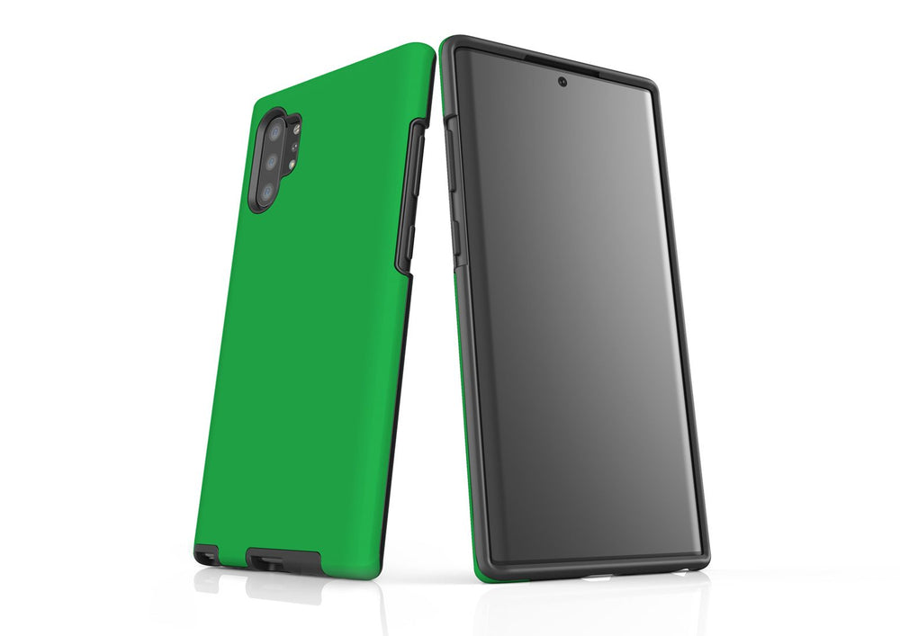 Solid Green - Samsung Galaxy Note 10+ Plus Tough Case In Matte