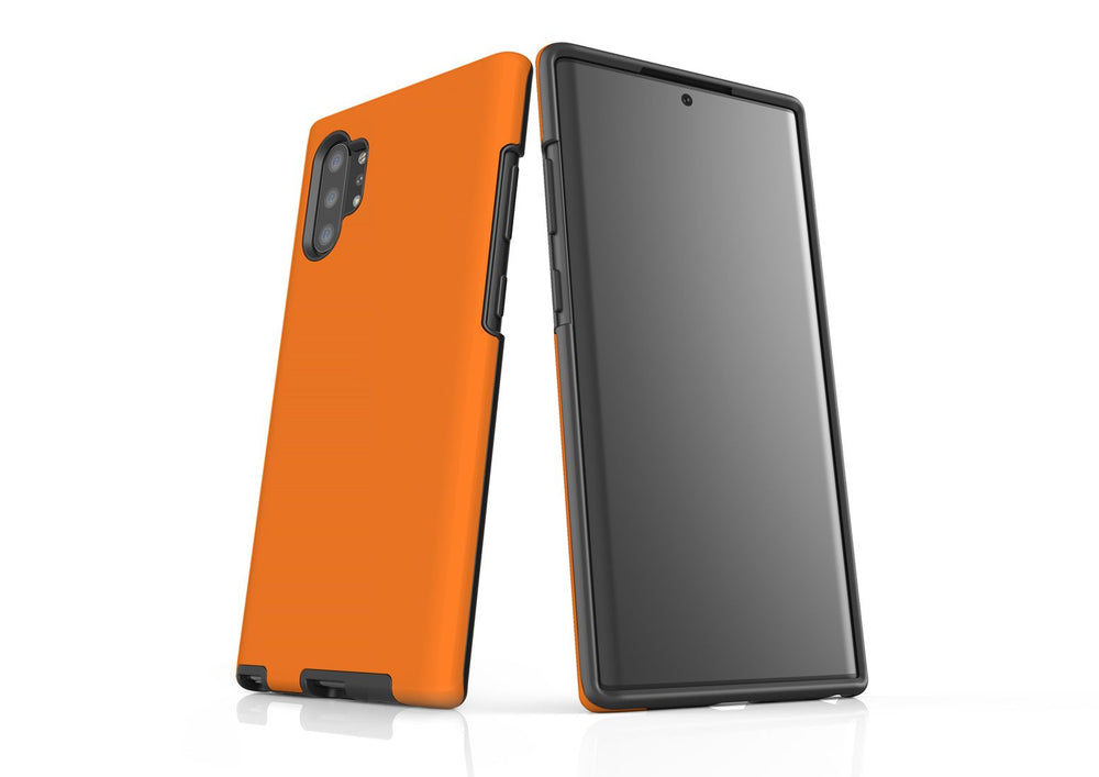 Solid Orange - Samsung Galaxy Note 10+ Plus Tough Case In Matte
