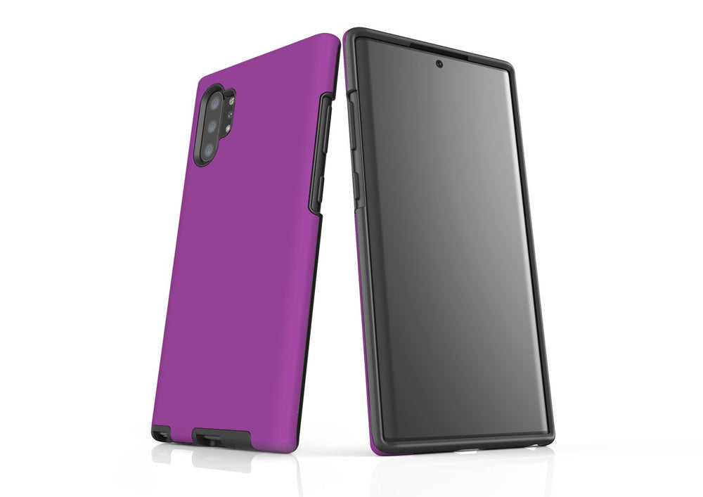 Solid Purple - Samsung Galaxy Note 10+ Plus Tough Case In Matte