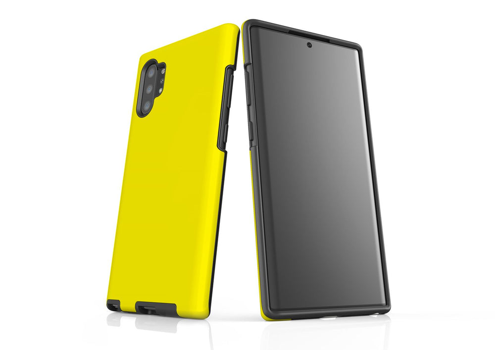 Solid Yellow - Samsung Galaxy Note 10+ Plus Tough Case In Matte