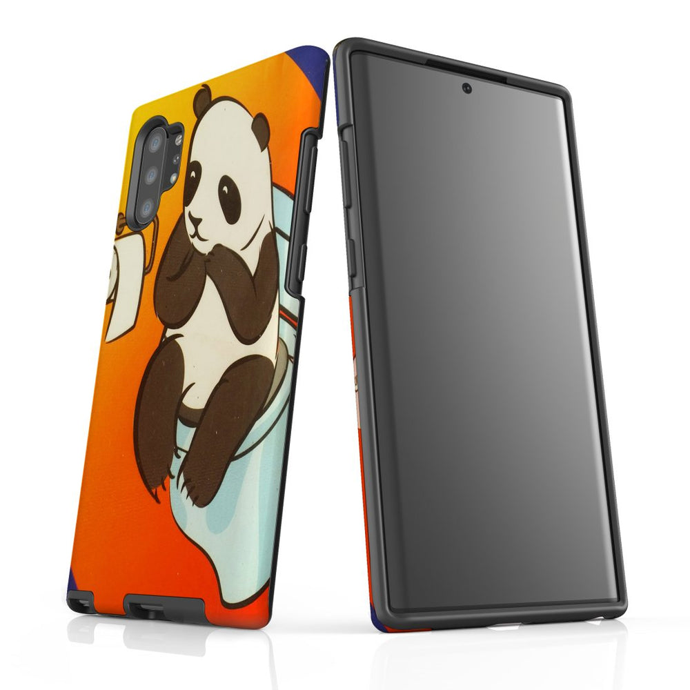 Samsung Galaxy Note 10+ Plus Case Protective Tough Cover, Panda's Toilet
