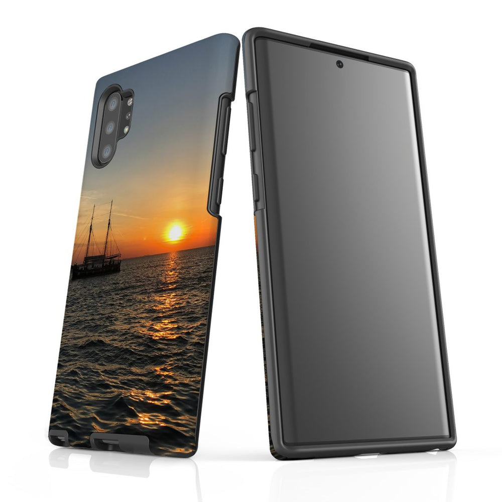 Samsung Galaxy Note 10+ Plus/Note 10/Note 9/8/5 Case Protective Tough Cover, Sailing Sunset