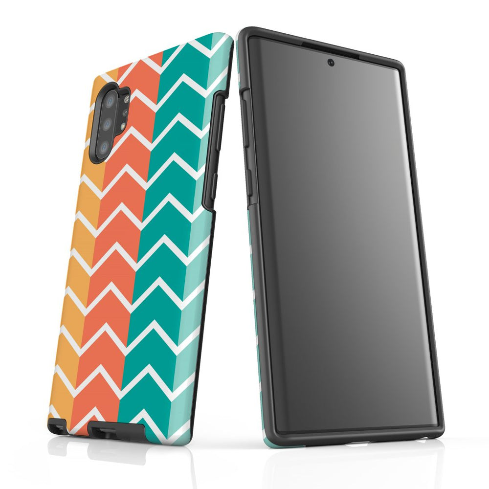 For Samsung Galaxy Note 10+ Plus/Note 10/Note 9/8 Protective Case, Zigzag Colorful