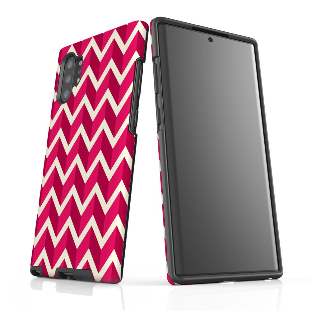 For Samsung Galaxy Note 10+ Plus/Note 10/Note 9/8 Protective Case, Zigzag Magenta