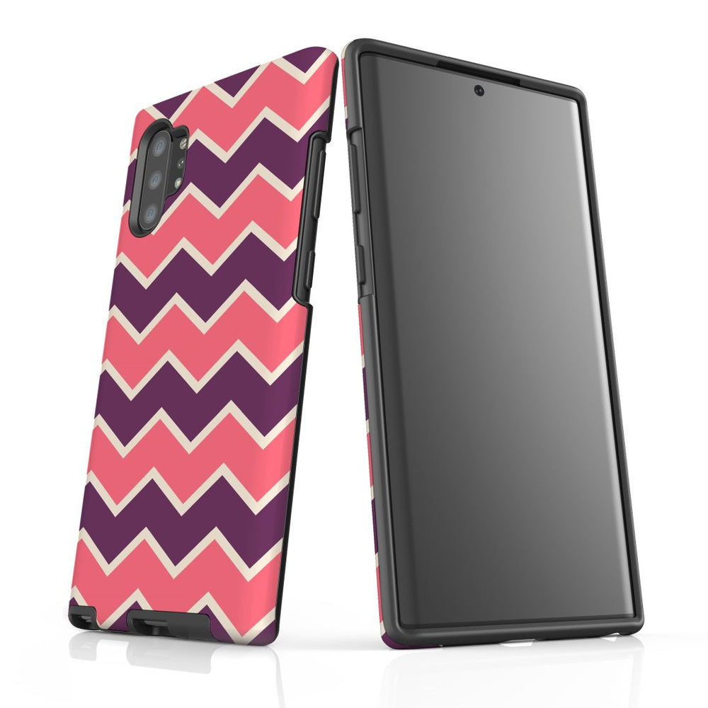 For Samsung Galaxy Note 10+ Plus/Note 10/Note 9/8 Protective Case, Zigzag Pink Purple