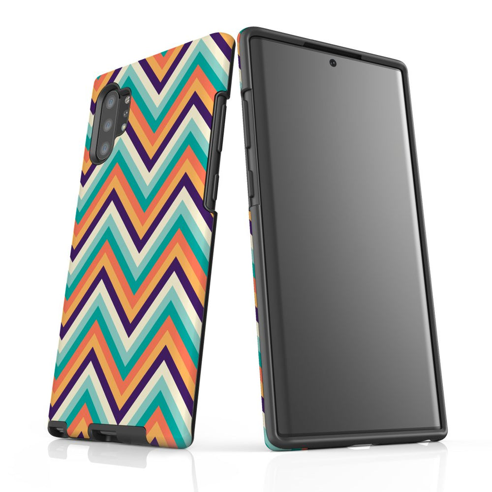 For Samsung Galaxy Note 10+ Plus/Note 10/Note 9/8 Protective Case, Zigzag Rainbow