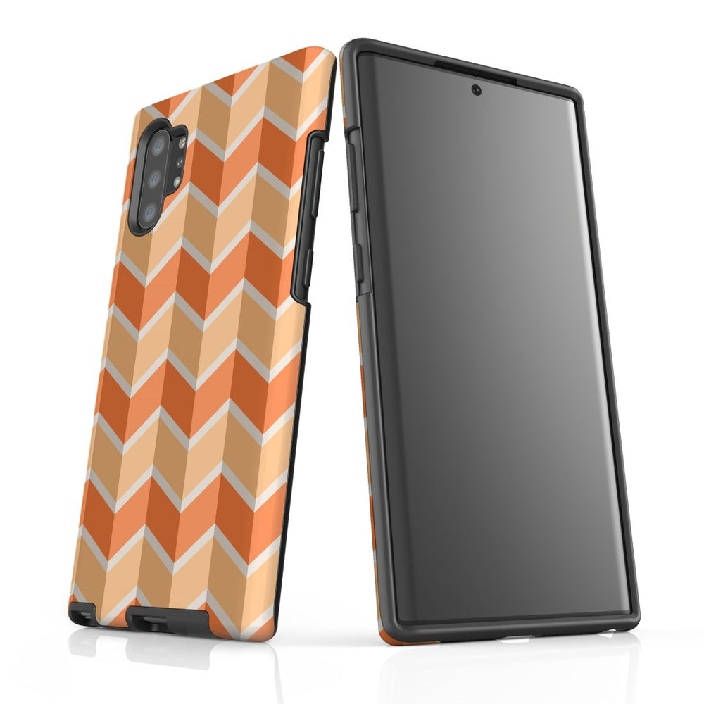 For Samsung Galaxy Note 10 Plus Protective Case, Zigzag Salmon Pattern