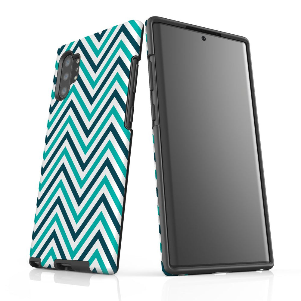 For Samsung Galaxy Note 10+ Plus/Note 10/Note 9/8 Protective Case, Zigzag Turquoise