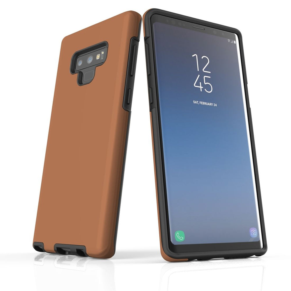 Samsung Galaxy Note 9 Case, Armour Tough Protective Cover, Brown