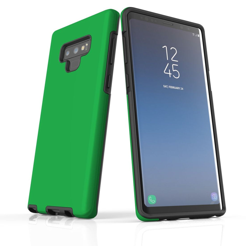 Samsung Galaxy Note 9 Case, Armour Tough Protective Cover, Green