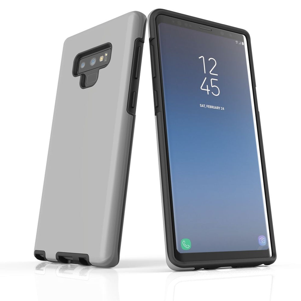Samsung Galaxy Note 9 Case, Armour Tough Protective Cover, Grey