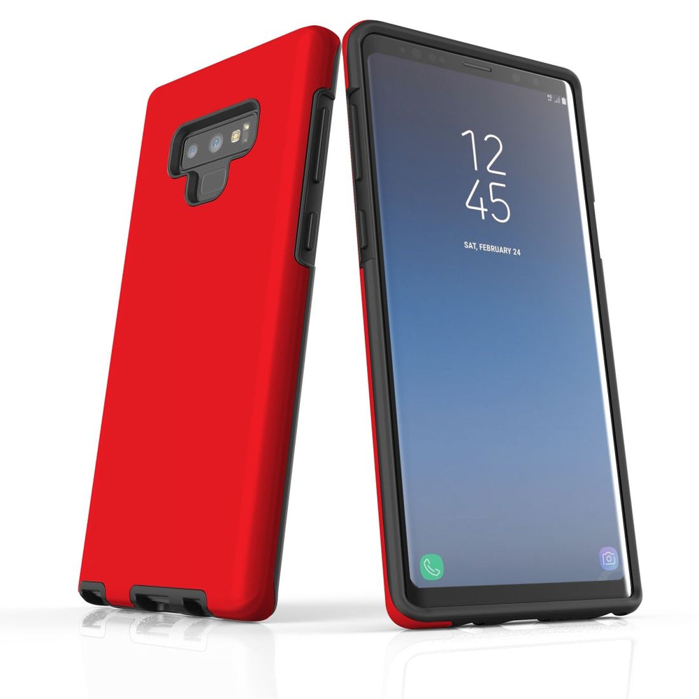 Samsung Galaxy Note 9 Case, Armour Tough Protective Cover, Red
