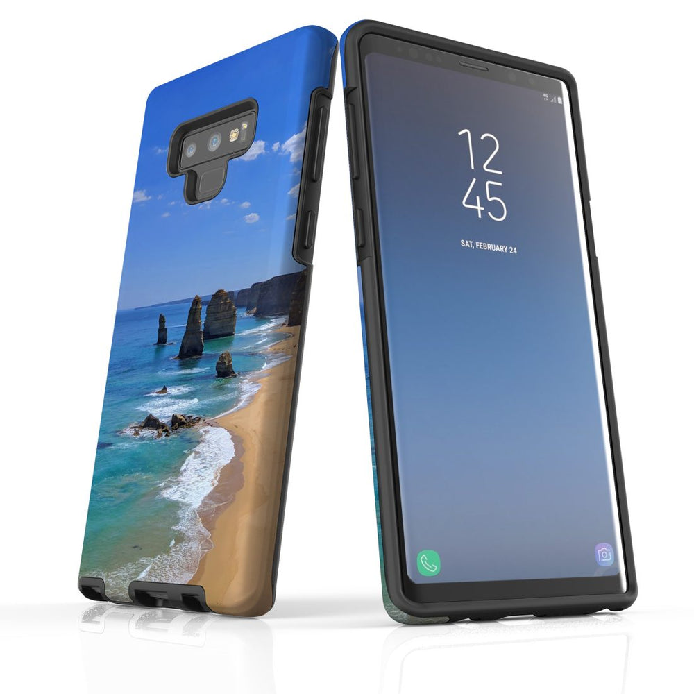 Samsung Galaxy Note 9 Case Protective Tough Cover, Famous Rocks