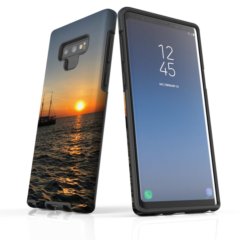 Samsung Galaxy Note 9 Case Protective Tough Cover, Sailing Sunset