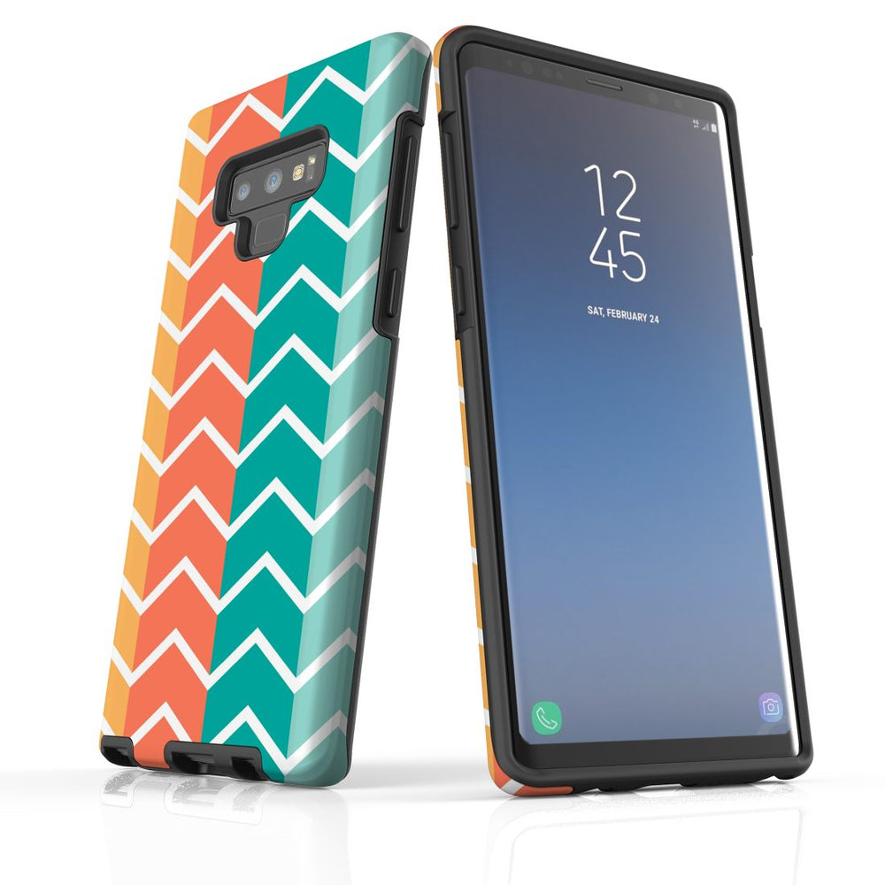 For Samsung Galaxy Note 9 Protective Case, Zigzag Colorful Pattern